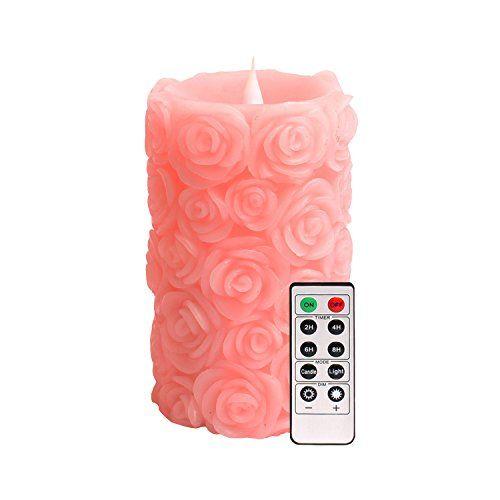 nice Led velas con mando a distancia, DFL rosa del Shap flujo libre de 3D Fireless pilar sin llama luz, rosa, para la madre regalo del día Mas info: http://comprargangas.com/producto/led-velas-con-mando-a-distancia-dfl-rosa-del-shap-flujo-libre-de-3d-fireless-pilar-sin-llama-luz-rosa-para-la-madre-regalo-del-dia/