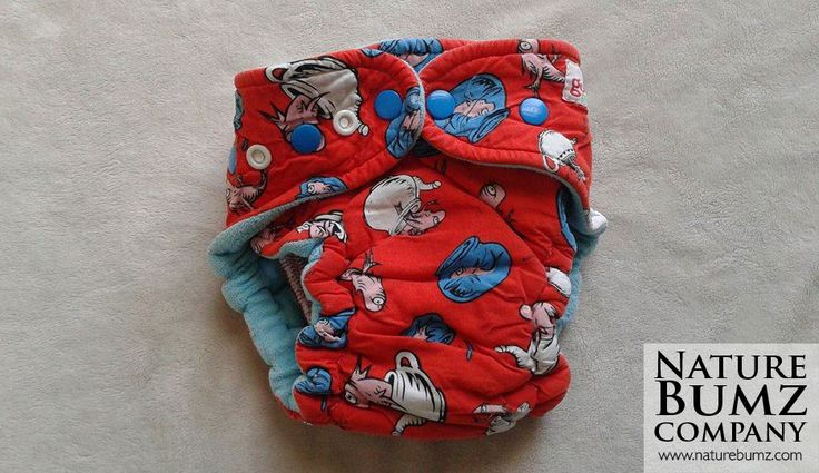 Gently Used Hard to Find GoodMama Fitted Diaper in Dr. Seuss Print!  Available at NatureBumz.Com