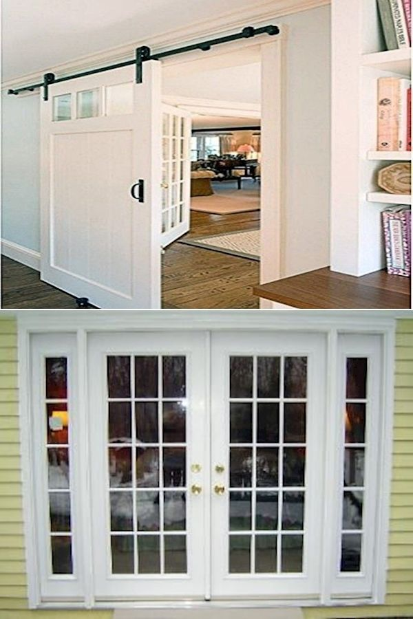 Double French Doors Exterior   Entry Doors With Sidelights ...