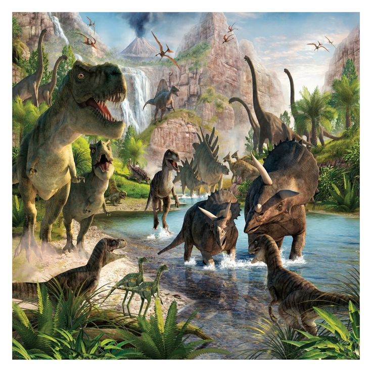 Best 25 dinosaur land ideas on pinterest felt play mat for Dinosaur land wall mural