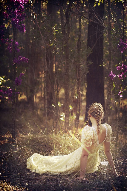pretty dress, woods