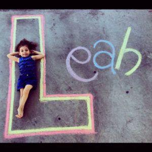 22 Totally Awesome Sidewalk Chalk Ideas - Sidewalk Name Chalk Art
