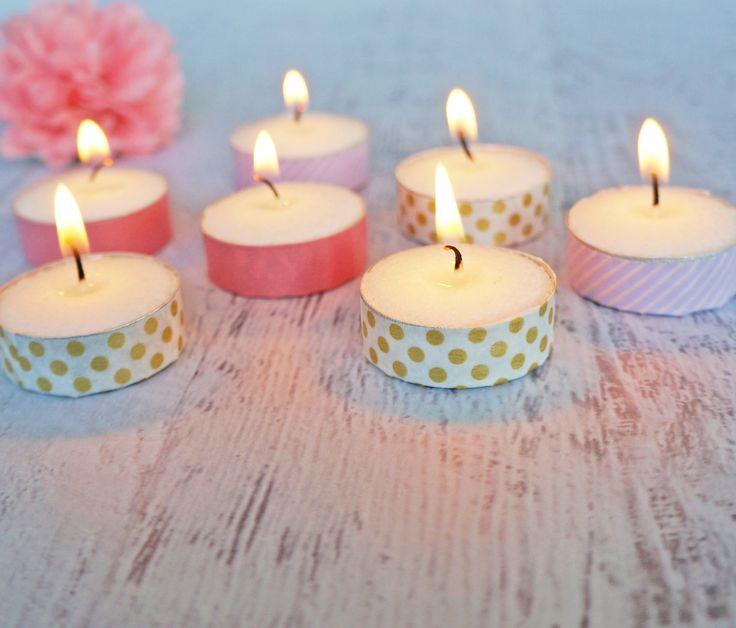 Washi Tape Tea-Light Candles | POPSUGAR Smart Living