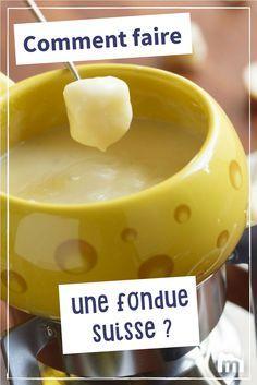 Comment faire une fondue suisse ? #fondue #suisse #fromage #recettes #Marmiton