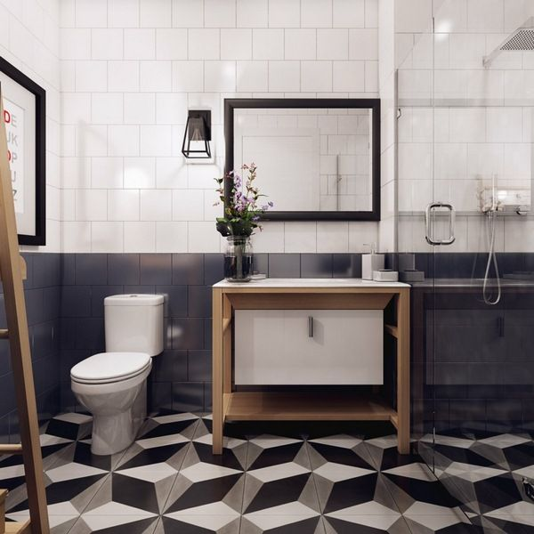 make apartment Scandinavian bath moebel washbasin toilet