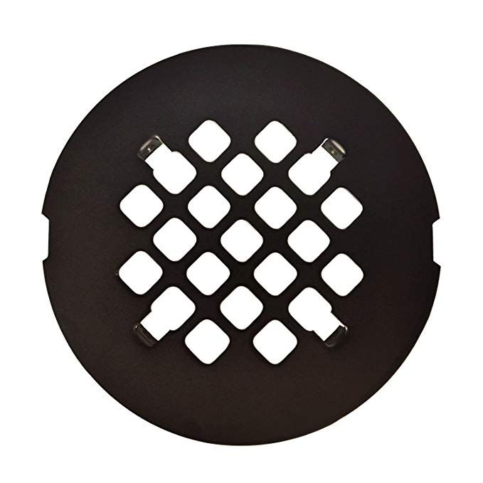 Oil Rubbed Bronze Round Snap In Shower Drain Grate 4 1 4