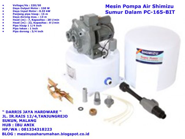 Mesin Pompa Air Shimizu Semi Jet Pump, Mesin Pompa Air Shimizu Sumur Dalam, Mesin Pompa Air Shimizu Sumur Dangkal, 081334318223 (TSEL)