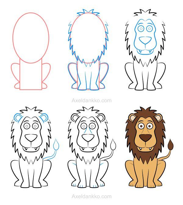 25 b sta id erna om dessiner un lion p pinterest - Comment dessiner un lion ...