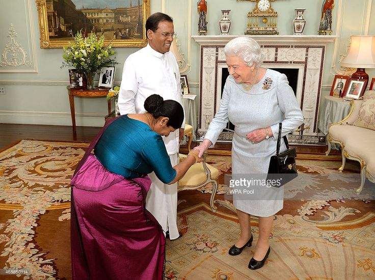 The President of Sri Lanka Mr Maithripala Sirisena, and his wife Jayanthi meet…