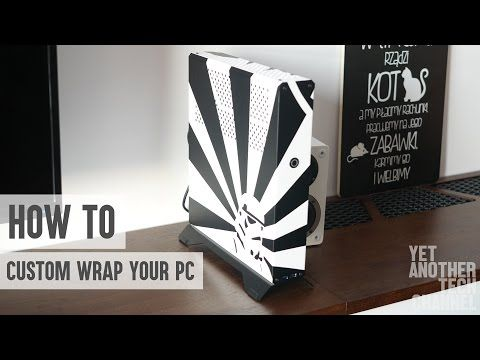 How to make custom decals for your PC case - YouTube