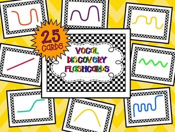 Inspire exploration in your young vocalists with these 25 easy to follow 8.5x11 vocal discovery flashcards. Teach your class how to read one or two and then set them loose to make high and low sounds on their very own. It's a great way to assess their voices without them knowing too.