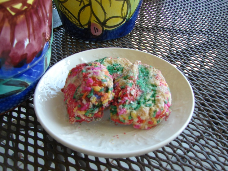 These champagne-rainbow sprinkle Italian butter cookies rang among my favorites. They're from Joseph's Italian Pastry Shop in Deerfield Beach, FL.