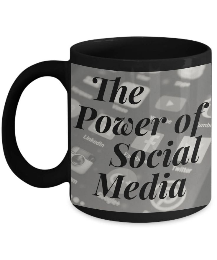 Social media mug, social media coffee mug, power of social media mug, social media ceramic mug, Social Media Black or Social Media White Mug by BearHugBoutique on Etsy
