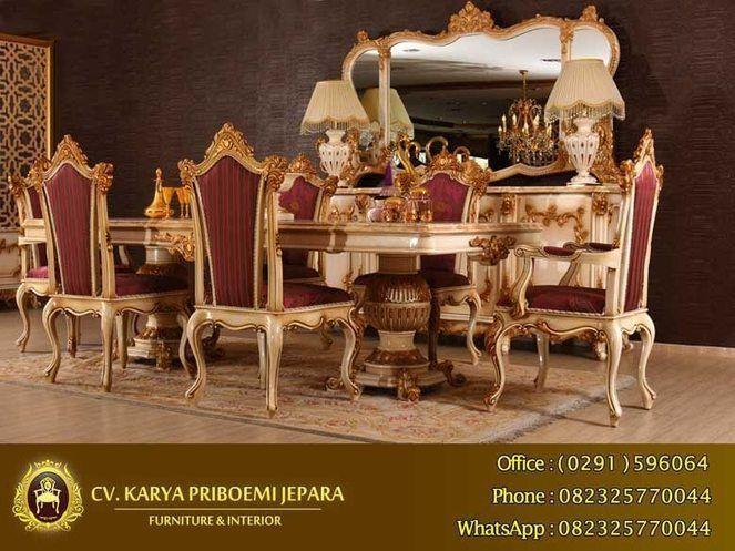 Meja Makan Mewah Alexandra Klasik Eropa – Produk mebel set meja makan jepara berdesain klasik eropa italian furniture yang sangat cantik dan elegant. Meja Makan Mewah Alexandra Klasik Eropa ini juga sangat kokoh dengan kaki kaki kayu solid yang dibulatkan serta diukir. Terdiri dari satu meja makan dan enam kursi makan akan sangat pas untuk menemani anda disaat makan bersama keluarga tercinta. Anda juga dapat memesan Meja Makan Mewah Alexandra Klasik Eropa ini menyesuaikan dudukan kursi yang…