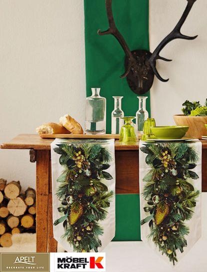 Elegant Mit der richtigen Tischw sche und Kissen k nnen Sie im Handumdrehen ein weihnachtliches Ambiente schaffen