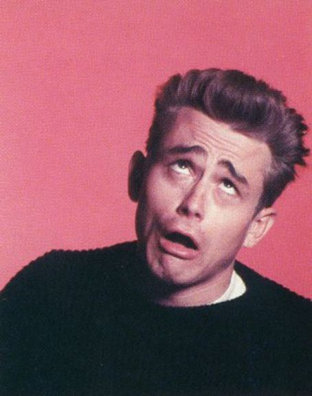 James Dean - looks like Ace Ventura here. Pretty funny.