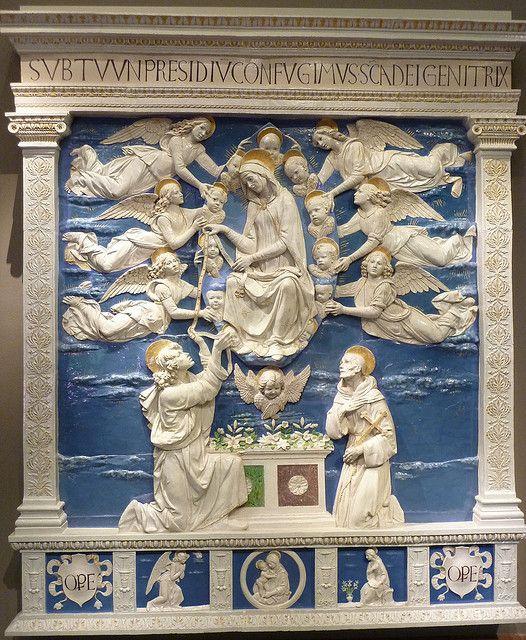 """Andrea della Robbia - Mary's Assumption or """"Madonna della Cintola"""""""