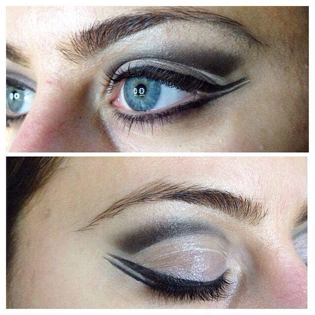 My first attempt of cut crease smokey eye