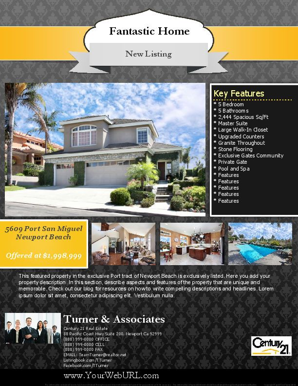 Real Estate Template%0A Below are pics of all the templates in Volumes    u       Real Estate Flyer  Templates Volume   Real Estate Flyer Templates Volume