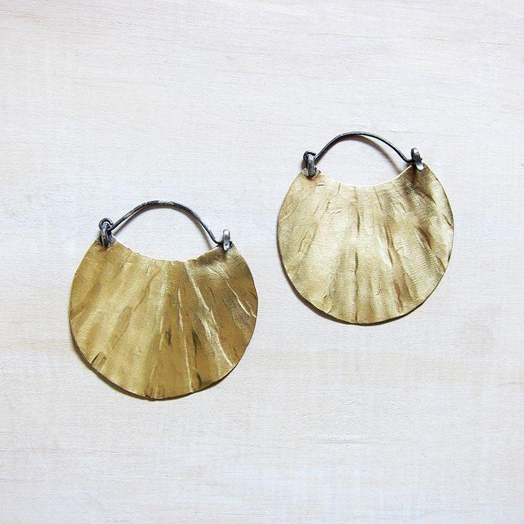 Marin earrings - brass