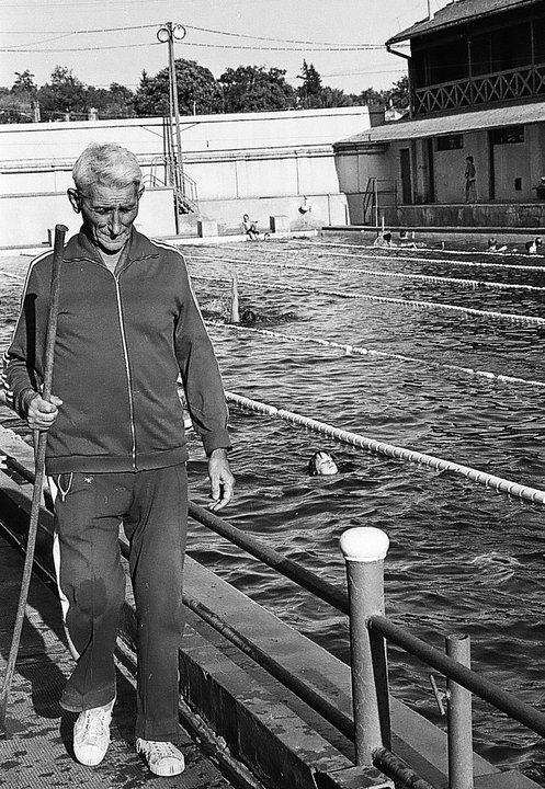 Eger, Bitskey Aladár bácsi edzésén a dr. Bárány István Sportuszodában 1985 körül