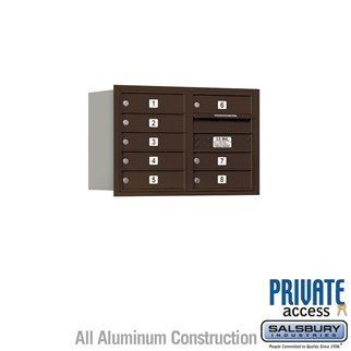 4C Horizontal Mailbox - 5 Door High Unit (20 Inches) - Double Column - 8 MB1 Doors - Bronze - Rear Loading - Private Access by Salsbury Industries. $427.50. 4C Horizontal Mailbox - 5 Door High Unit (20 Inches) - Double Column - 8 MB1 Doors - Bronze - Rear Loading - Private Access - Salsbury Industries - 820996412805