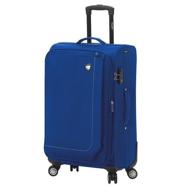 Mia Toro Italy Madesimo /Red/Black/Khaki 24-inch Expandable Spinner Upright Suitcase