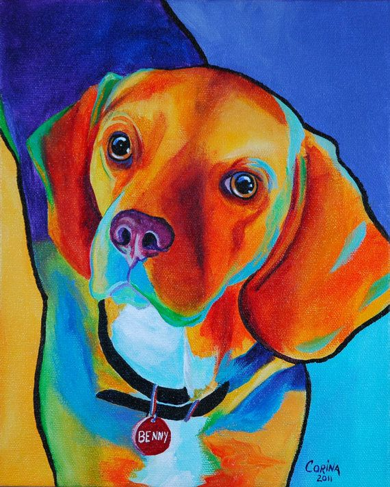 Custom Dog Portrait  Custom Pop Art Pet by CorinaStMartinArt, $80.00 if I'm ever rich. I'm totally doing this.