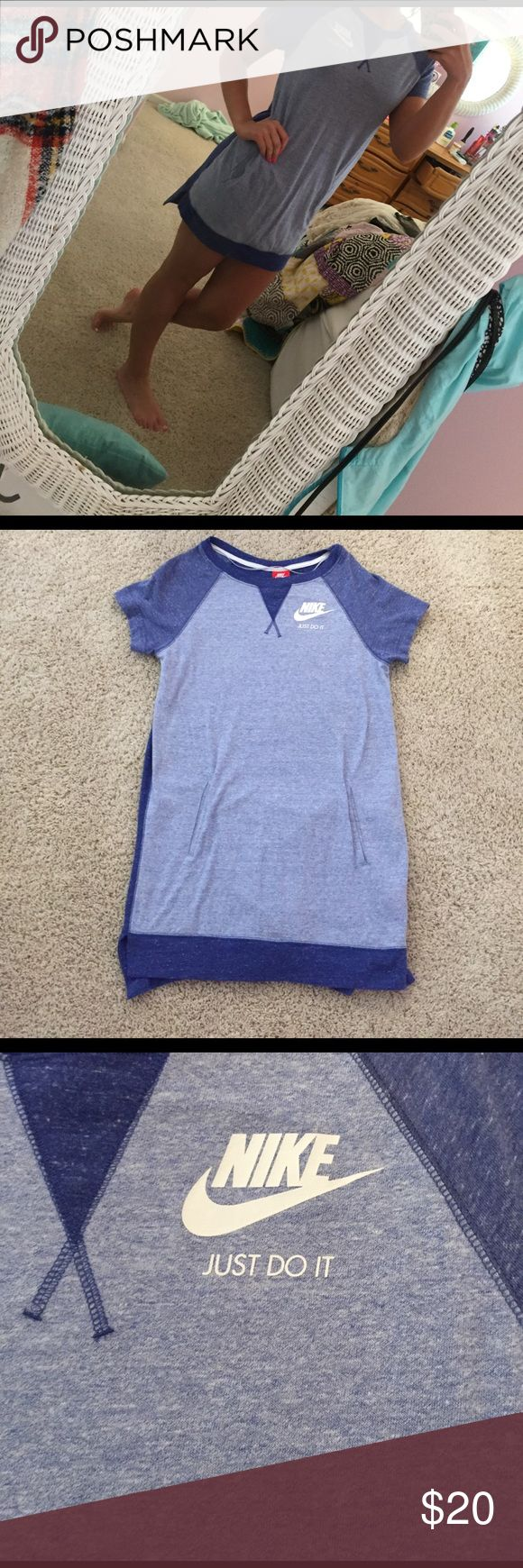 nike dress cute and casual nike dress! size small. perfect condition - worn only a couple times! has pocket! (picture 5) 5) **can get both of the nike dress listings for $40** Nike Dresses