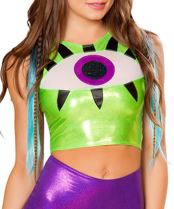 One Eyed Monster Crop Top