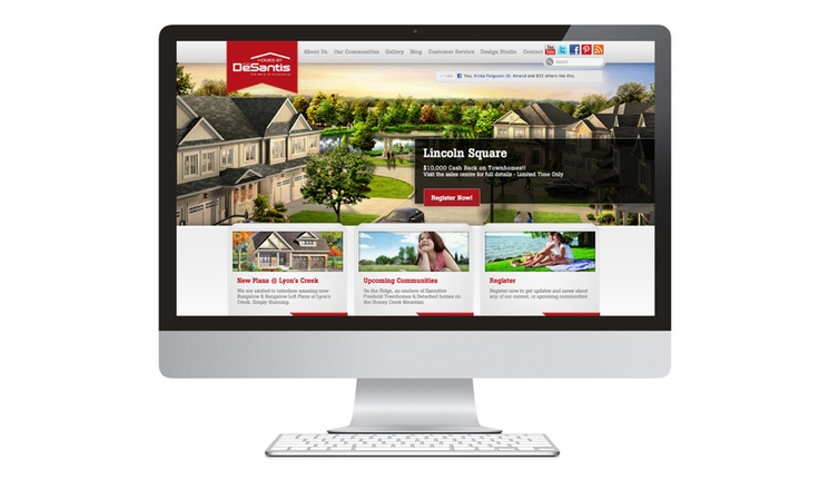 For over half a century, Homes by DeSantis has perpetuated their legacy and commitment to a passion for homebuilding. As their reputation for creating first-class communities grows, they needed a website that was as sound in structure as each of their well-planned properties and enjoyable to experience as each of their inviting streetscapes.