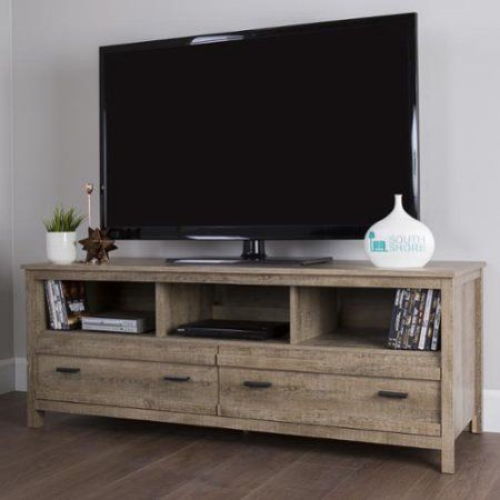 South Shore Exhibit TV Stand (60 inches) Exhibit TV Stand for TVs up to 60'', Weathered Oak - Walmart.com