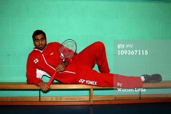 News Photo: Rajiv Ouseph of the England Badminton squad poses…