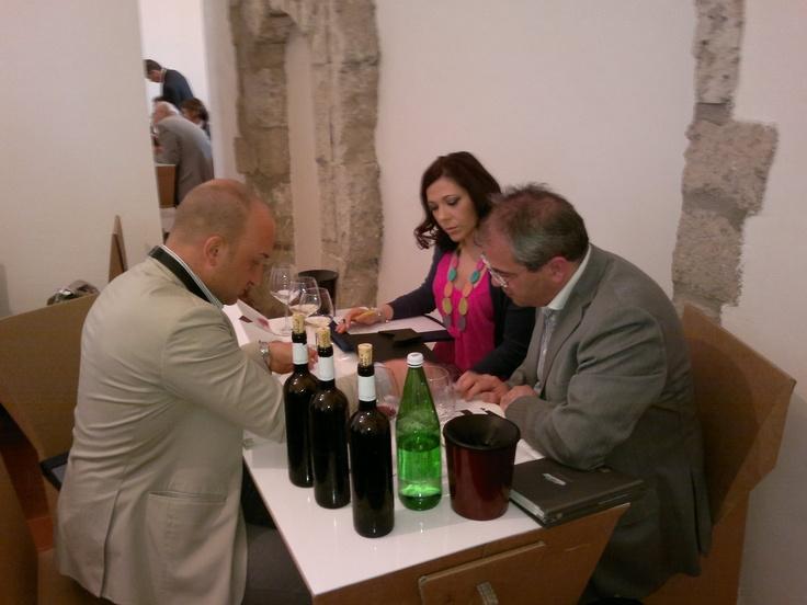 FIBI's buyers tasting Italian wines - Vitigno Italia 2012