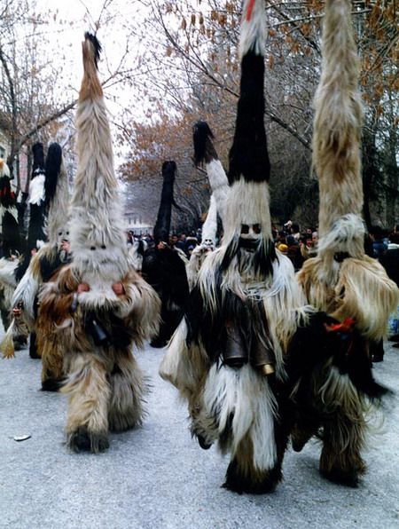 Bulgarian maskers. The Abombinal Snowman mystery is now solved - Kukeri Festival in Bulgaria