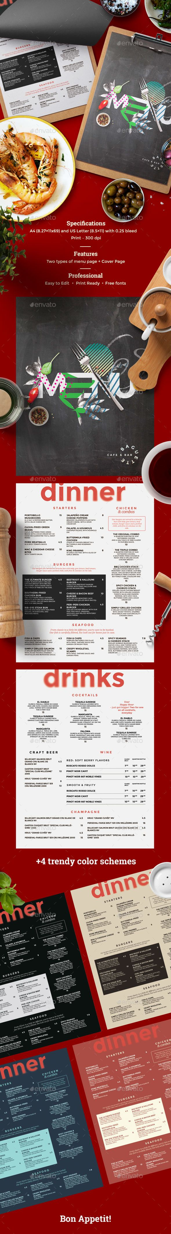 Cafe Menu — Photoshop PSD #food #fancy • Available here ➝ https://graphicriver.net/item/cafe-menu/20847066?ref=pxcr