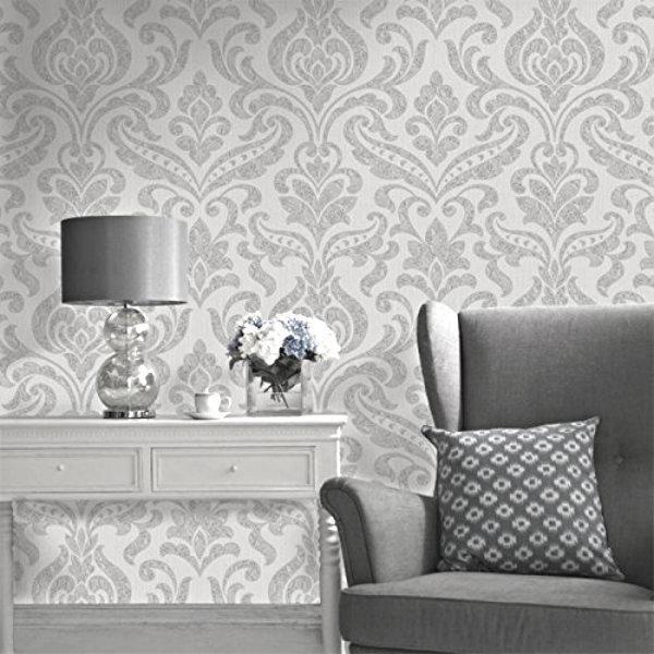 Holden Opus Wallpaper | Merletto Silver/Grey | 35610