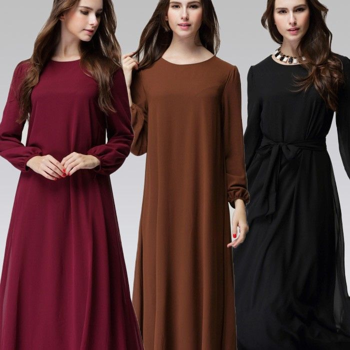 Long Sleeve Dress New Fashion 2016 Spring Plus Size Islamic Clothing Wholesale Latest Abaya Designs Muslim Maxi Dresses Women