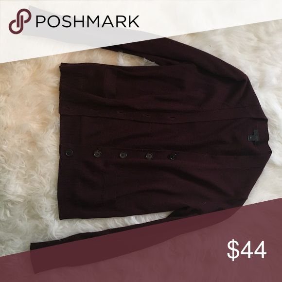 J.Crew Maroon Cardigan Perfect to throw on for any winter or fall outfit! Small J.Crew Maroon Cardigan J. Crew Sweaters Cardigans