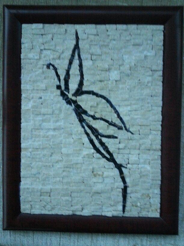 Modern kelebek mosaic art