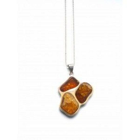Sterling silver amber pendant by Moonstoneamber on Etsy, $145.00