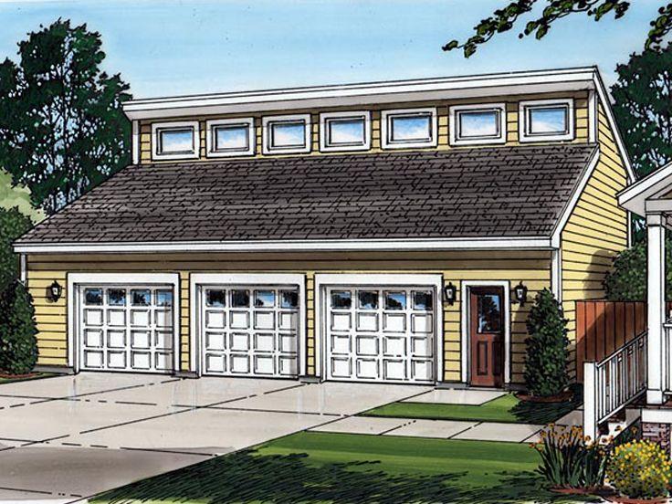 047g 0029 Three Car Garage Plan With Loft 44 X26 Garage Plans With Loft Garage Plans Detached Garage House Plans