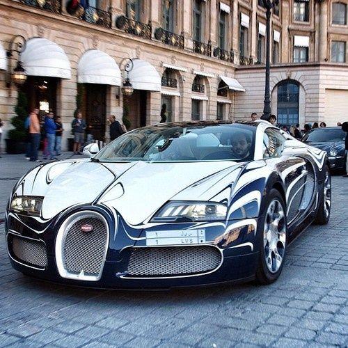 bugatti silver car