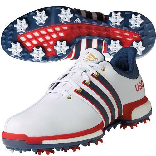 adidas Mens USA Edition Tour360 Boost Golf Shoes | TGW.com