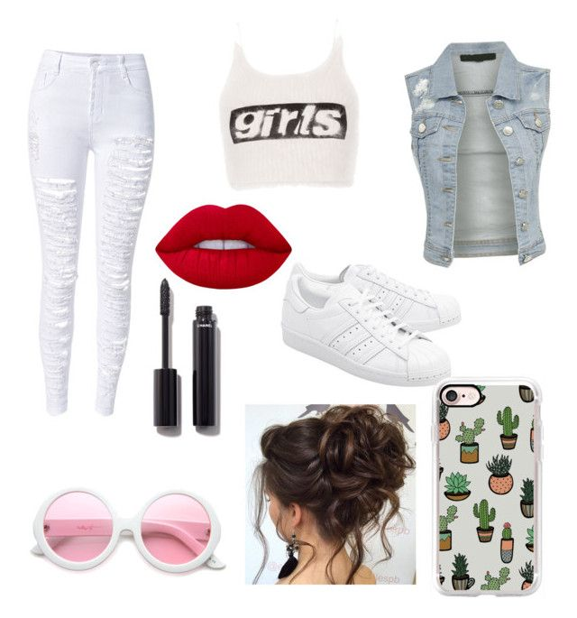 """""""Cute"""" by labea02 on Polyvore featuring moda, WithChic, Alexander Wang, ZeroUV, Chanel, adidas Originals, Casetify e Lime Crime"""