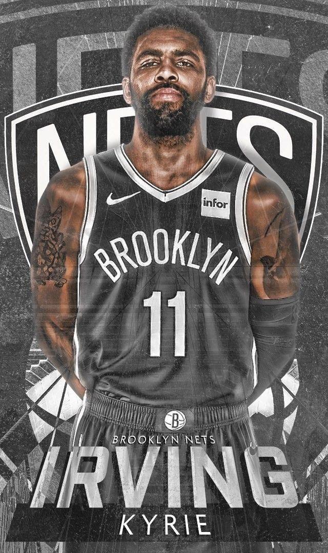 Kyrie Irving Iphone Wallpaper Brooklyn Ipcwallpapers Irving Wallpapers Nba Basketball Art Nba Basketball Teams
