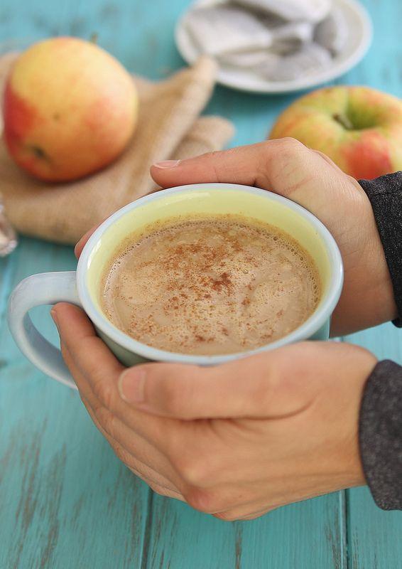 Apple cinnamon tea latte - Running to the Kitchen