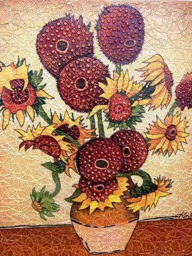 Картины (живопись) : Копия картины Винсента Ван Гога Подсолнухи