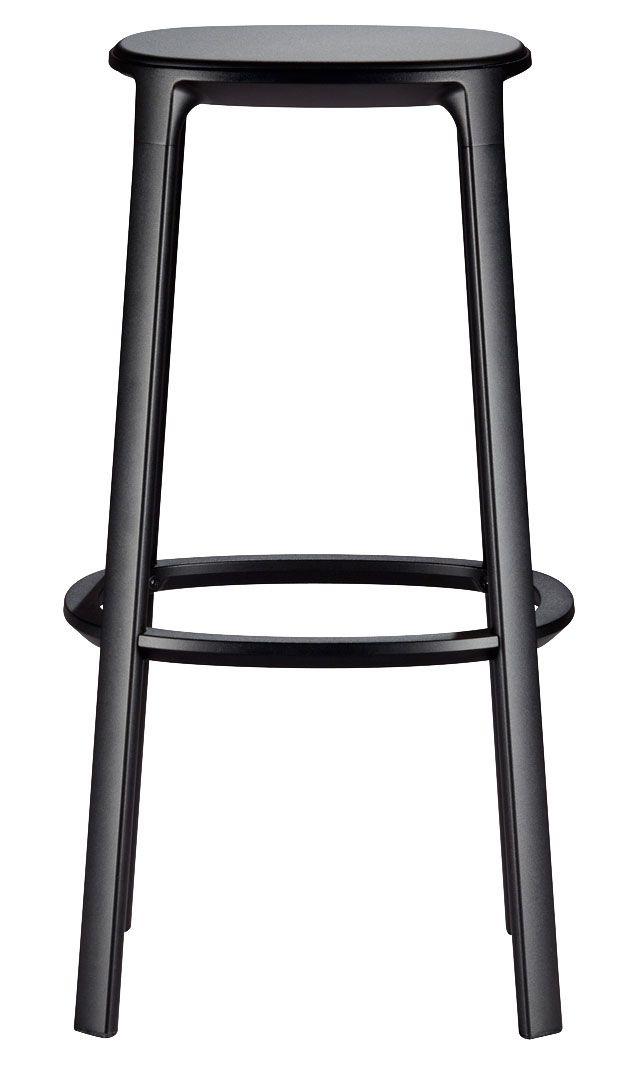 Барный стул Blocco, дерево, сталь, дизайнер Наото Фукасава, Plank.