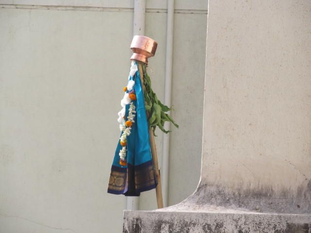 Gudi Padwa – Marathi New Year: Gudi Padwa is celebrated on the first day of Chaitra month and its a New Year day for Maharashtrians and Konkanis. On this day a gudi is found hanging out on the right side of the main entrance of the houses,  Gudi is a bright yellow cloth tied to the tip of a long bamboo and copper pot placed in inverted on it along with a sugar garland.